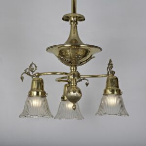 719-A Brite brass 3 light